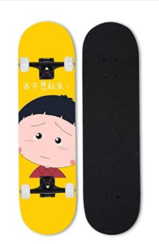 Mopoq Cherry Maruko Skateboard Beginners Niños Adulto Tablero Profesional Doble Alice Four-Wheel Scooter Boys Adolescentes Custom (Color : 11)