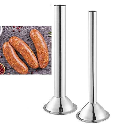 Felenny 2 Tubi di Fissaggio per Kit di Insaccatrice per Salsicce Acciaio Inossidabile da 0 5 Pollici da 0 75 Pollici Accessori per Accessori da Cucina