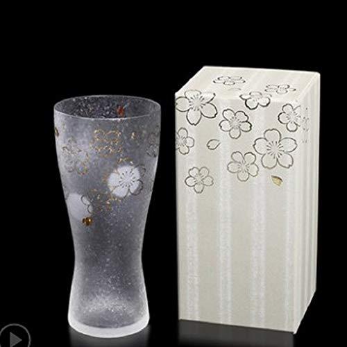 WNTHBJ Bedrukt glas waterglas, huishoudelijk bierglas, 300ml theekopje, hittebestendige theekop (1 stuks)