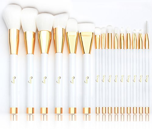 Qivange 15pcs Make up Pinselset, professionelle synthetische/vegan Make up Brush ausgezeichnete...