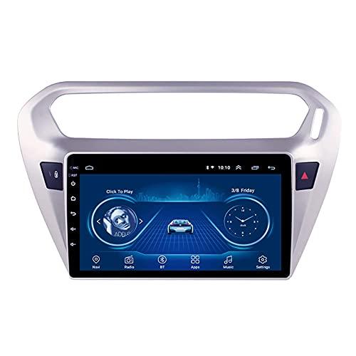 ZHANGYY Navegación GPS Compatible con Peugeot 301 2014-2018 Soporte de instalación Receptor Reproductor de Video FM/Radio WiFi/Bluetooth/TF/USB/AUX/Control del Volante