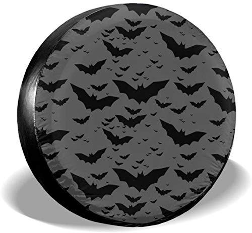 MODORSAN Bats - Cubiertas universales de poliéster para Ruedas de Repuesto, Cubiertas para Ruedas, para Jeep, Remolque, RV, SUV, camión, Accesorios, 16 Pulgadas