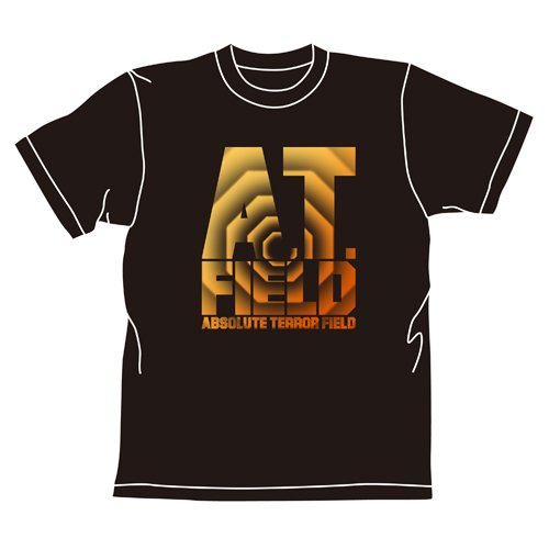 Rebuild of Evangelion cospa–Camiseta de Japón: A.T. Field (Negro) tamaño L
