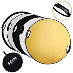 Easy to Use -- Within Two Comfortable Grips on The Reflector, Allowing You to Use it with Just One Hand. Provide Better Experience Than Traditional Reflector. Portable -- Folded Size Only 15in, With a Portable Case, Suitable for Travel or Storage. Su...