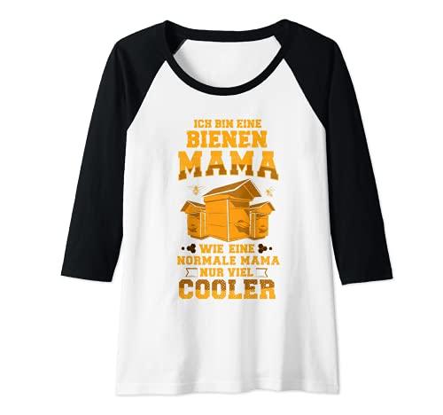 Damen Lustiges Bienenzüchter Imker Geschenk Bienen-Mama Outfit Raglan