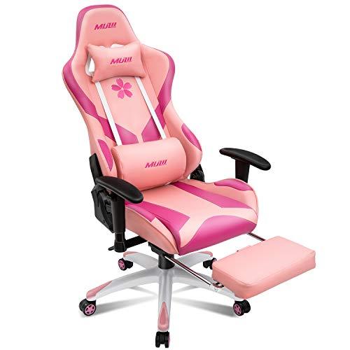 Muzii Ergonomic Pink Computer Gaming Chair