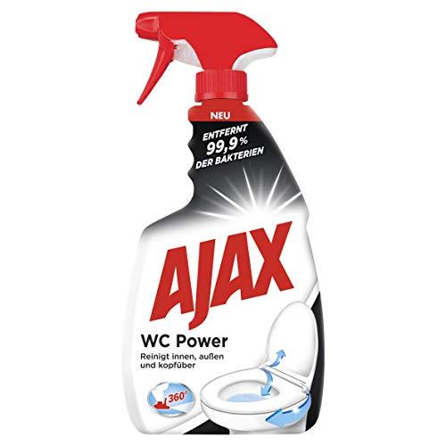 Ajax WC-Reiniger WC Power, 750 ml - Antibakterieller Toilettenreiniger entfernt 99,9 % der Bakterien und hartnäckige Kalkablagerungen