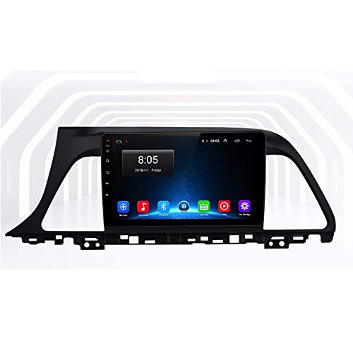 LNHJZ Android Car Stereo Head Unit Kompatibel mit Hyundai Sonata 7 2014-2017 GPS-Navigation 9-Zoll-Touchscreen MP5-Multimedia-Player Radio-Videoempfänger mit 4G DSP Carplay