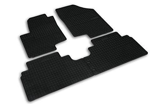Frogum 0420 Gummimatten Auto Fußmatten Gummi Passgenau 4-teiliges Automatten Set Schwarz