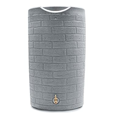 Good Ideas IMP-D50-SLA Impressions Downton Rain Saver Rain Barrel, 50 gallon, Slate