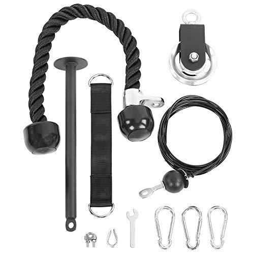 WLH DIY Home Gym Fitness Equipment Kits De Entrenamiento De Fuerza Sistema De Polea De Elevación con Pasador De Carga