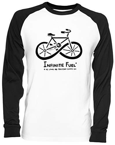 Infinite Fuel Blance Camiseta De Béisbol Unisex White Baseball tee Tshirt
