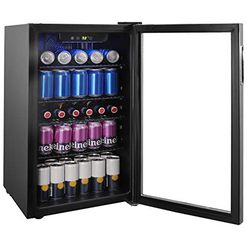 Glass Front Compact Beverage Refrigerator