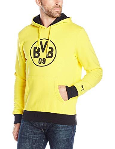 PUMA Mens Borussia Dortmund Badge Hoodie Large, Cyber Yellow