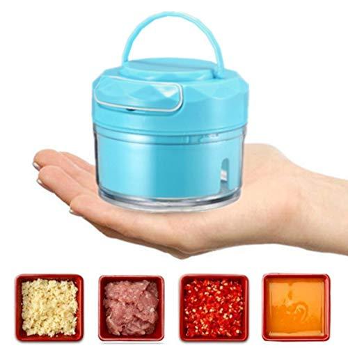 Mini Food Processor, Food Chopper Kitchen Aid, Mini Blender, Kitchen Aid Small Food Processor (Blue-with handle)
