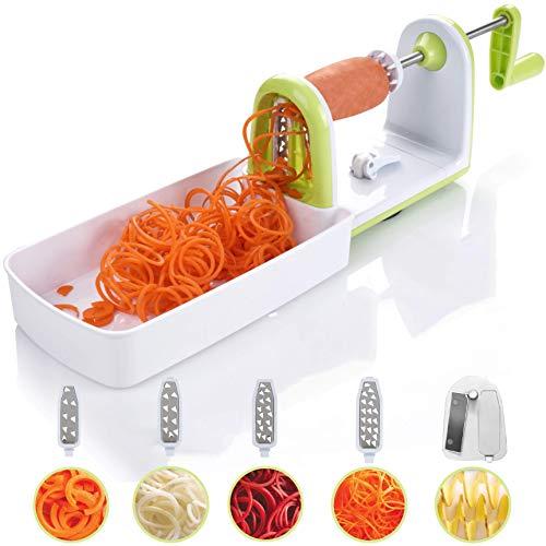 Spiralizer Twinzee - Spiraliseur de légumes compacte 5 Lames interchangeables Découpe-légumes...