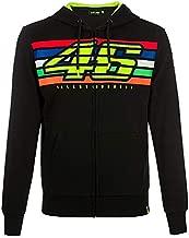 Valentino Rossi VR46 Moto GP Logo Stripes Black Hoodie Official 2019