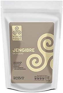 Vivio Foods, Jengibre En Polvo, 150 gramos