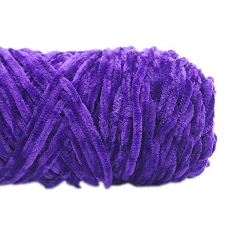 R-Weichong – Hilo de terciopelo de oro brillante, hilo de chenilla de terciopelo, para ganchillo hecho a mano, bricolaje, artesanía, bufanda, suéter, lana