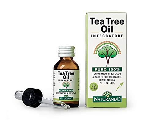 Naturando Tea Tree Oil 20 ml 100% puro olio di melaleuca per uso interno ed esterno