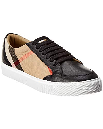 BURBERRY Zapatillas deportivas de mujer de tela y piel 8024331 negro Check