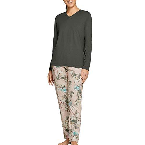Impetus Woman - Pijama floral de algodón, modelo Elysian verde 44-46