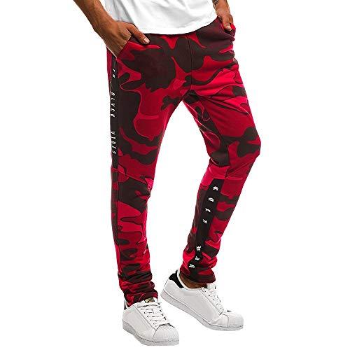 Alaso Pantalons de Survêtement Homme Activewear Pantalons Jogging Camouflage Sweat Pants Combat Sport Slim Fit Pas Cher