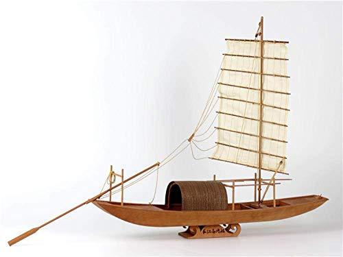 XIUYU Wohnzimmerdekorationen aus Holz Modellschiff Kit Schiff Versammlungs-Modell 1/20 Yangtze River Basin Fischerboot aus Holz Modellbausätze
