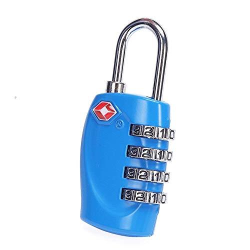 Ogquaton 1 x Tragbare und praktische 4 Digitale Schlösser TSA-Sicherheitskennwortsperre Geeignet für Gymnastik Turnsport Aktenschränke (Blau)