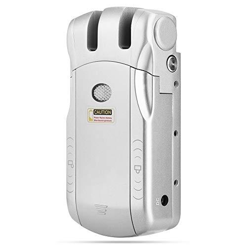 Cerradura electrónica de control remoto inalámbrico inteligente táctil, cerradura de puerta de entrada sin llave Cerraduras de seguridad antirrobo invisibles 4 controles(Adaptador BT + USB plateado)