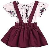 Jacket Conjunto de traje de verano para niñas y bebés con diseño floral para...