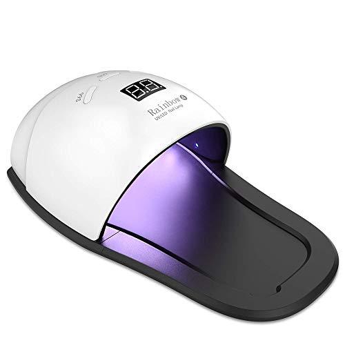 Ruihua Professional Nagellamp Machine 2 in 1 UV/LED 48 W Nageldroger Nieuwe versie voor het genezen van teennagels en vingernagels, Draagbaar Snel LED Nageluitharding Geef een doos met nagellakverwijderaar doekjes