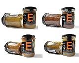 Mermeladas Natural , Sin Gluten, 240 Gr, Ver Sabores - Pack 4 - 6 - 8 Unidades . Esencia Andalusí (Cebolla Caramelizada y Miel de Azahar, 4 Unidades)