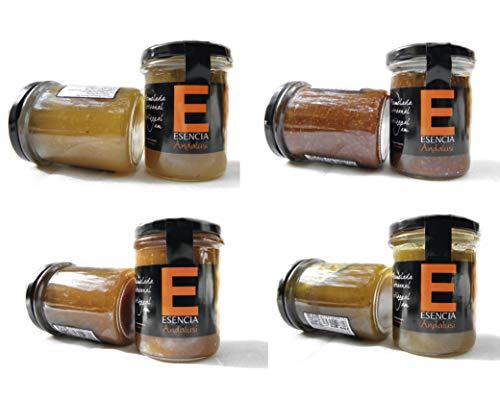 Mermeladas Natural , Sin Gluten, 240 Gr, Ver Sabores - Pack 4 - 6 - 8 Unidades . Esencia Andalusí (Manzana, Nueces y Canela, 4 Unidades)