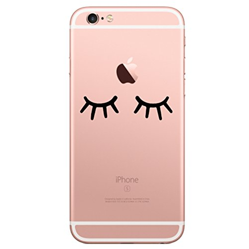 Teryei Compatible con Funda iPhone 6 Plus / 6S Plus Silicona TPU Carcasa [ Ultra Slim ] Anti-Scratch Full Protección Transparente Suave Caso Cover Anti-arañazos Choques para iPhone 6 Plus(Sonreír)