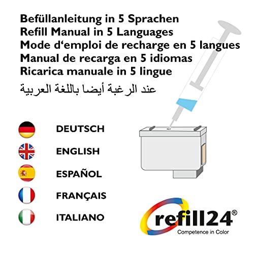 refill24 T2981 Cartuchos Recargables para T2981,T2982,T2983, T2984 / T2991, T2992, T2993, T2994 / T29 XL