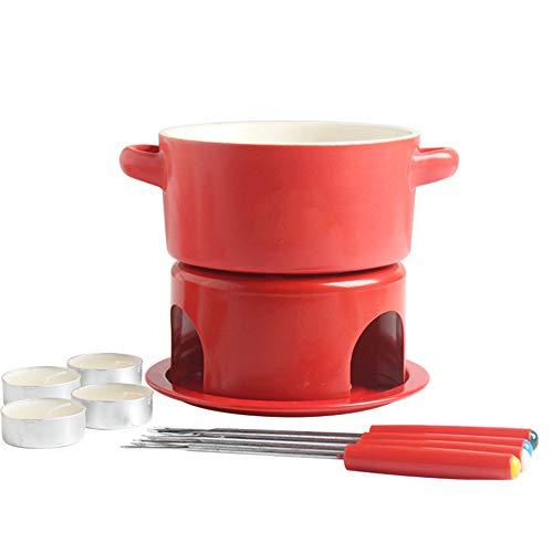 4 stuks keramisch fondue set chocolade fondue met roestvrij staal vorken geschenken voor alle emporium geweldig cadeau idee chocolade fondue set de prefect keuken accessoire