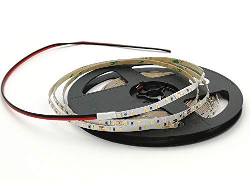 Rouleau de 5 mètres ruban 600 LED 2216 SMD lumière unie au choix 5 m 24 V DC PCB étroit 4 mm avec adhésif double face CRI 95+ Modèle premium (6000 K lumière froide (blanc)