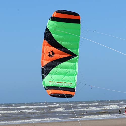 Wolkenstürmer Paraflex Trainer 3.1 Actionkite Neonorange - 3 Leiner Lenkmatte zum Mountainboardfahren