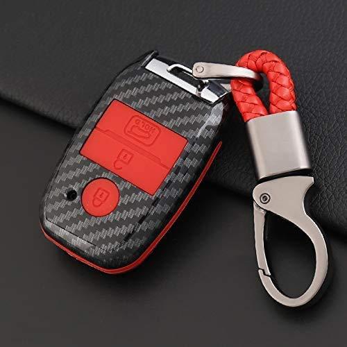 Cubierta de la llave del coche con ABS y silicona suave Shell dominante elegante del caso del control remoto de la llave Fob Caso protector completo de la clave Titular Fit for Kia K3 K4 K5 K3s Kx3 KX