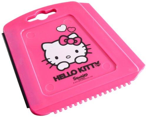 Hello Kitty\' HK-WAA-256 Trapez Eiskratzer für das Auto, Eisschaber mit Eisbrecher-Zähnen und Wasserabstreiflippe