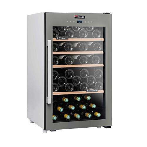 CLIMADIFF - Cave de Service - Cave à vin Mono température 63 Bouteilles - Contrôle en façade - Pas de Perte de Froid - Sécurité Enfant - Dégustez Votre vin à température idéale