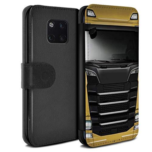 eSwish beschermhoes van PU-leer voor Huawei Mate 20 Pro/serie: LKW HGV cabine over euro - geel goud