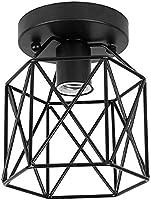 ZHMA Semi-Flush Mount lampa sufitowa, w stylu industrialnym, klosz, wytarty olej, wykończenie brązu, do korytarza...