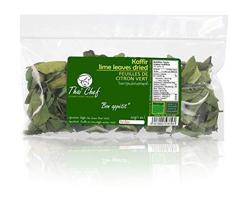Thaï Chef : Dried Kaffir Lime Leaves, 30g | Curry Leaves, Premium Gourmet Ingredient for Thai & Asian Cuisine , De la Nature 100%