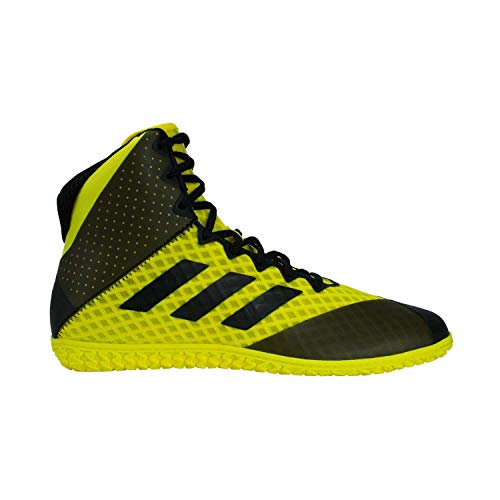 adidas Mat Wizard 4 Youth Wrestling Shoes, Yellow/Black, Size 2