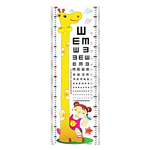 HUMINGG Gráficos de Crecimiento Niños niños decoración decoración de Dibujos Animados Animal Crecimiento Altura Medida Medida 1.7m Etiqueta de la Pared calcomanía (Color : B)