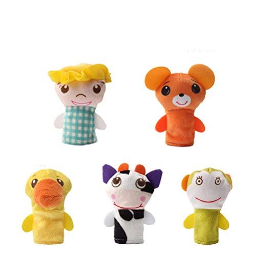 Toyvian Marionetas Dedo Animales muñecas Dedo Felpa