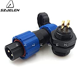 SZJELEN Panel Mount 13mm 2Pin Waterproof 2 Wire Connector IP67, Industrial Electronics Plug and Socket,LED Light Power Cable Connector