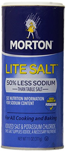 Morton Lite Salt, With Half The Sodium Of Table Salt, 11 oz